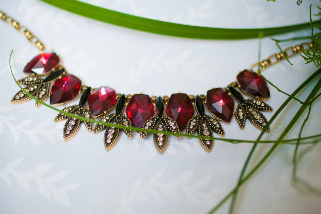 Style by Cia bridal jewelry piece, ruby antique piece | Photo by Memories in Time