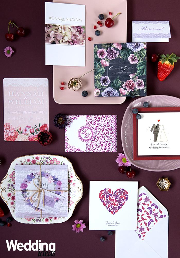 15 Ultra Elegant Purple Wedding Stationery Ideas