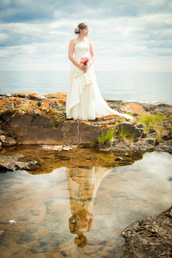 Bridal up do | reflection pool bride by the lake | Courtney June Photography
