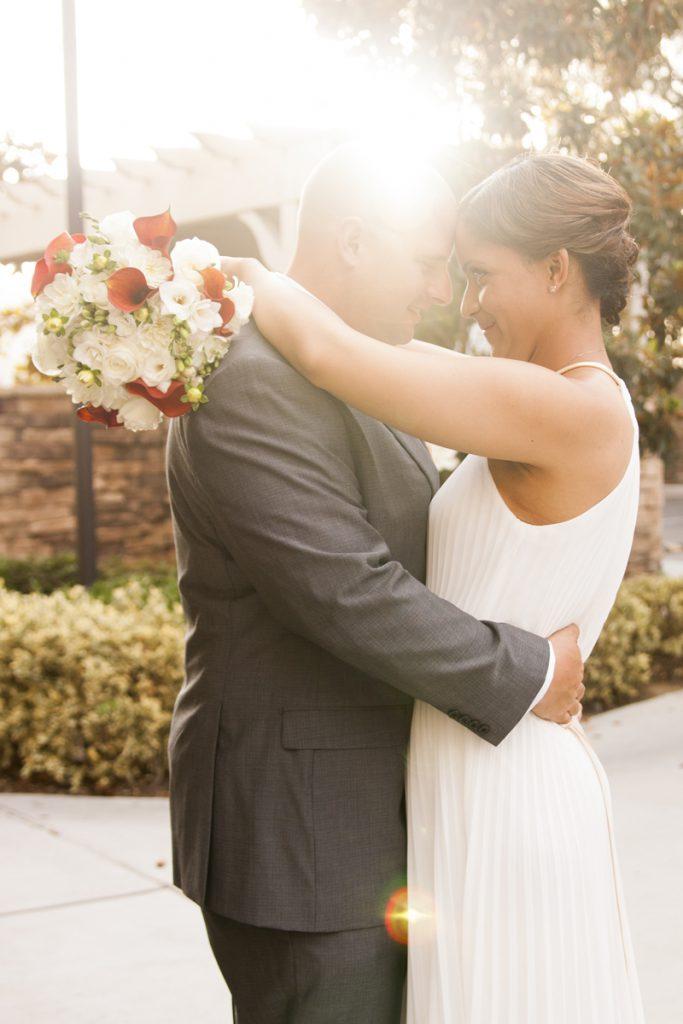 Bridal updo | golden hour photo | Courtney June Wedding Photographer
