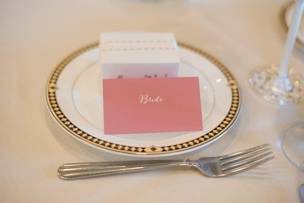 bride escort card