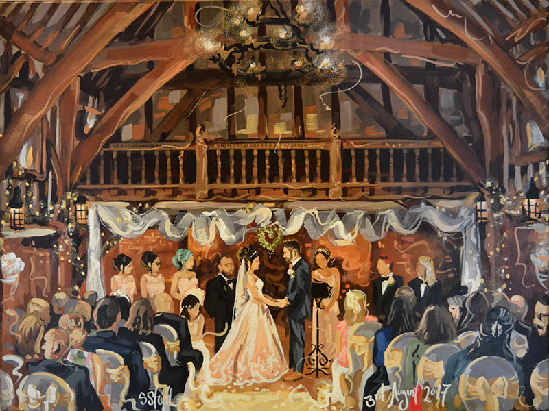 Looking for a wedding gift with the wow-factor? You need to see live wedding paintings, a stunning way to document the day and hang on the wall afterwards!