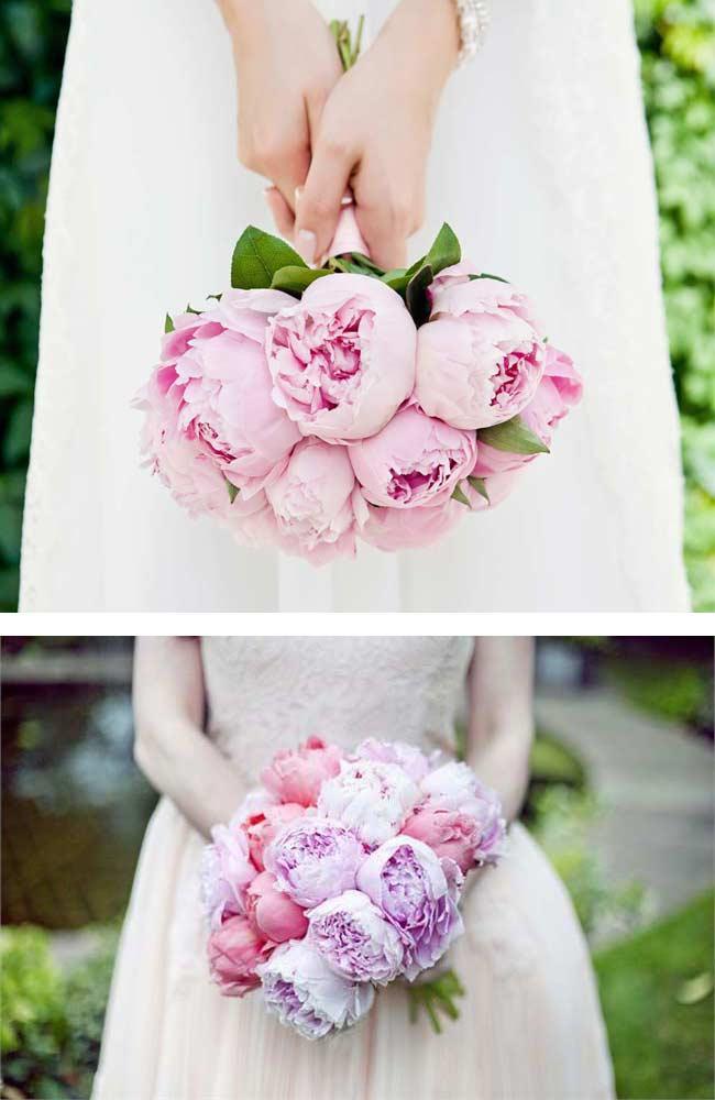 Posy peony bouquets