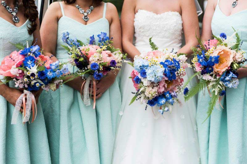 Bridesmaid peony bouquets
