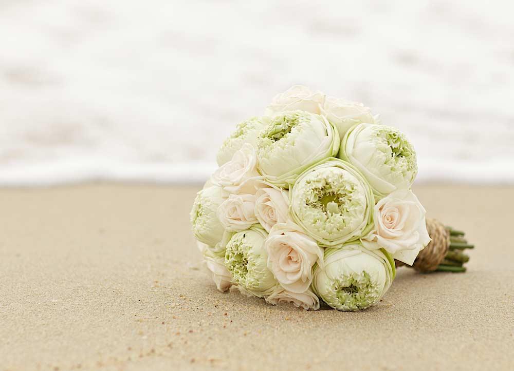 Green peony bouquet