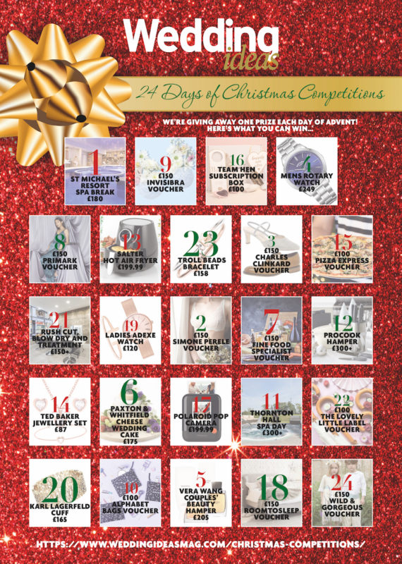 24 Days of Christmas Competitions Wedding ideas Advent Calendar 2018 dec 15