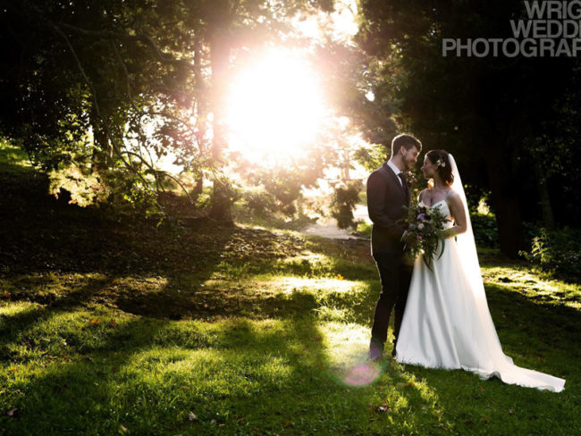 Bride and groom outdoor portrait Win a £500 Voucher and Photo Booth From Wright Wedding Photography