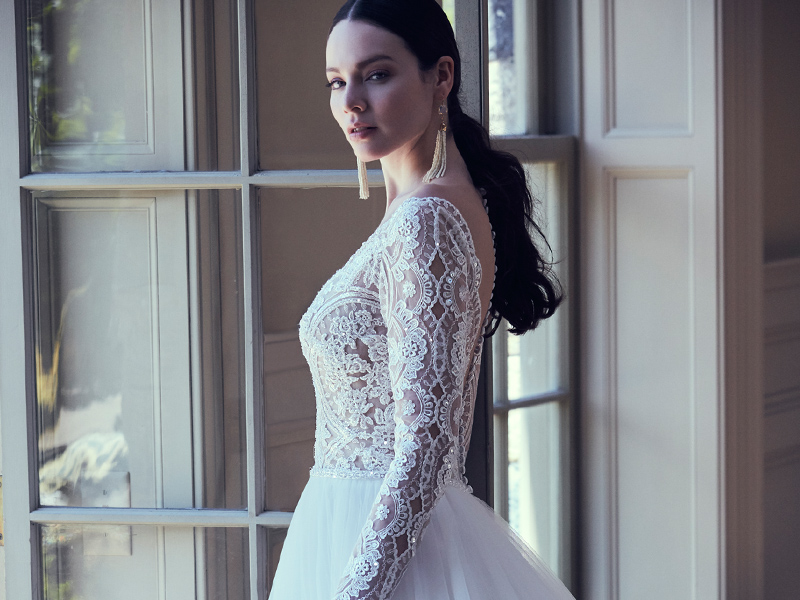 Maggie Sottero long sleeve wedding dress The British Wedding Awards 2019: the Designers, Venues and Brands Recognised on the Night