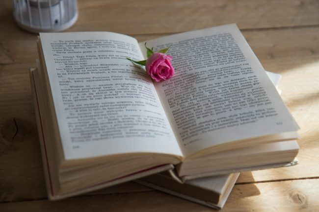 book with rose in middle TheBest Modern Wedding Readings