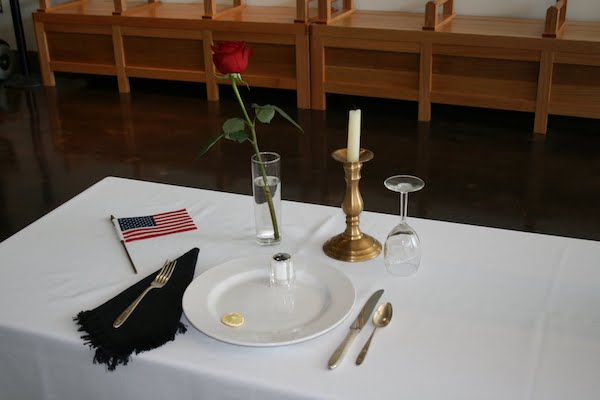 Fallen Soldier Table - Missing Man  Table
