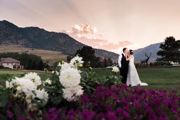 Perfect Wedding Guide - Denver Perfect Wedding Guide  - Denver wedding - mountain wedding - bride and groom on mountain at sunset