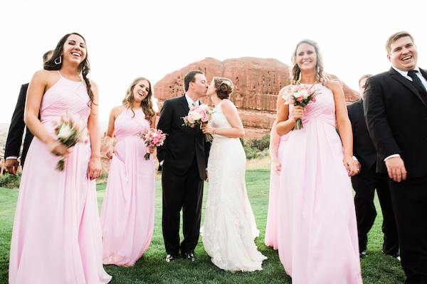 Perfect Wedding Guide - Denver Perfect Wedding Guide  - Denver wedding - mountain wedding - wedding party at red rocks