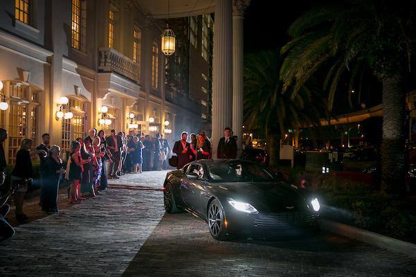 Orlando Real Wedding - Orlando Perfect Wedding Guide - Grand Exit - wedding getaway car
