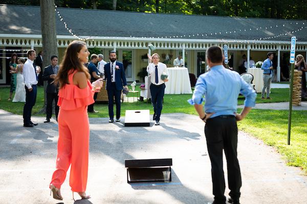 wedding reception - lawn games