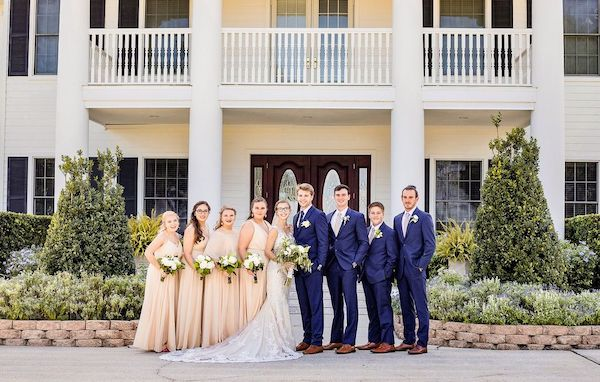 wedding party at mansion - Orlando Real Wedding PWG Orlando real wedding