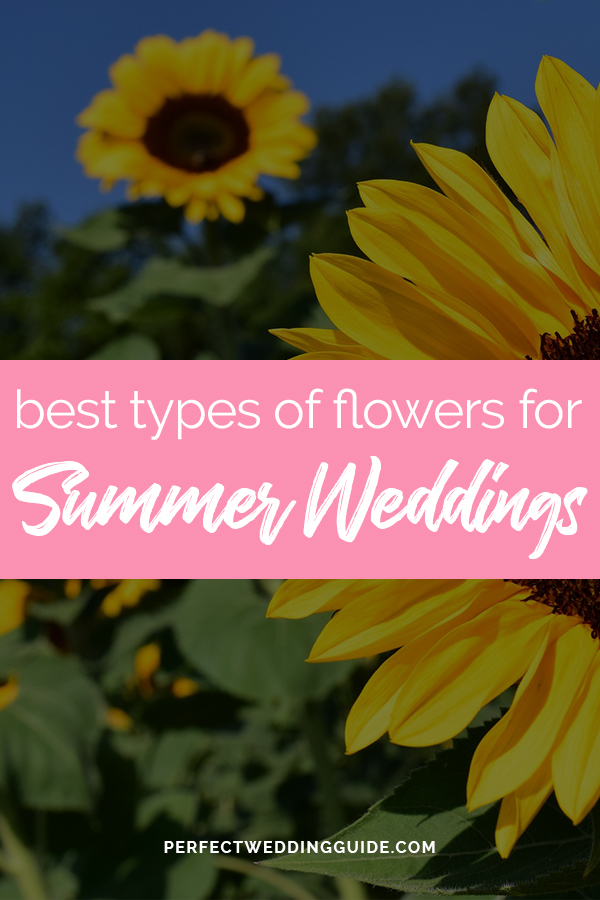 Top flowers for a summer wedding