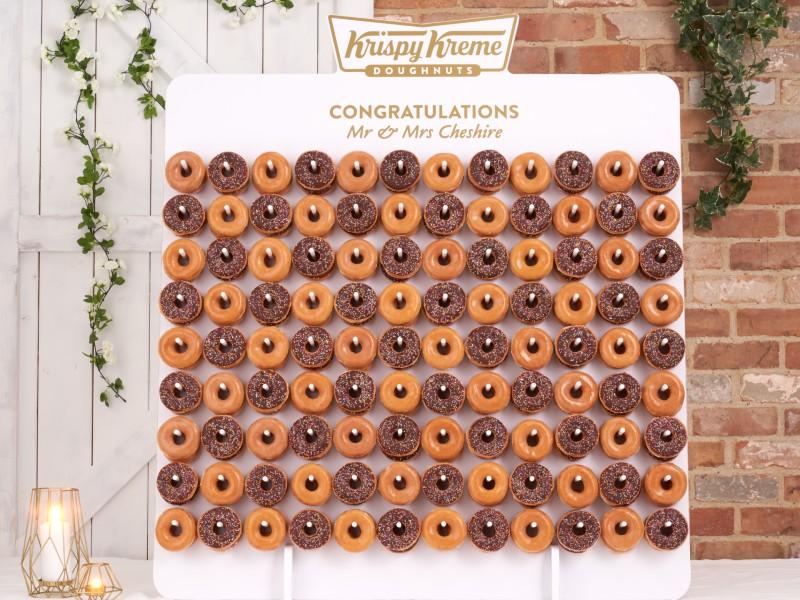 krispy-kreme-wedding-doughnuts-wall