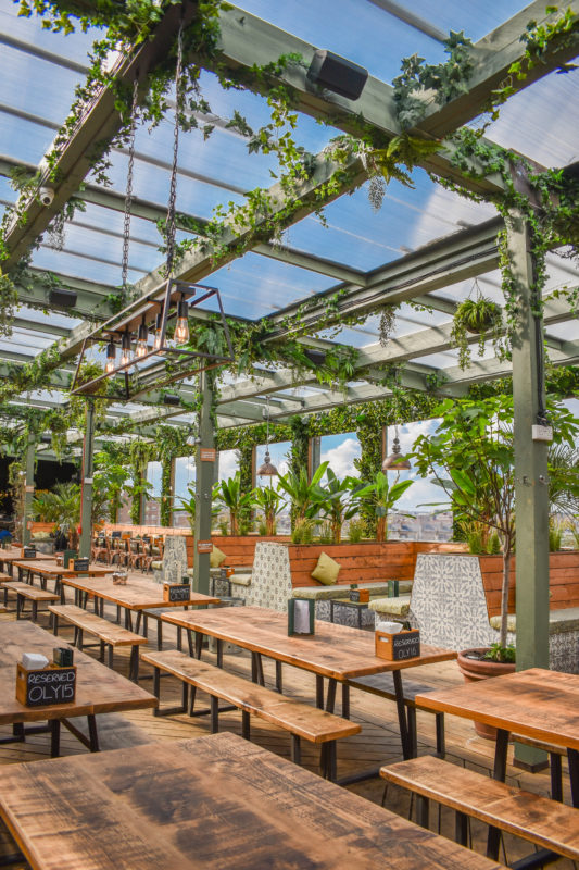 Pergola Olympia - best rooftops london