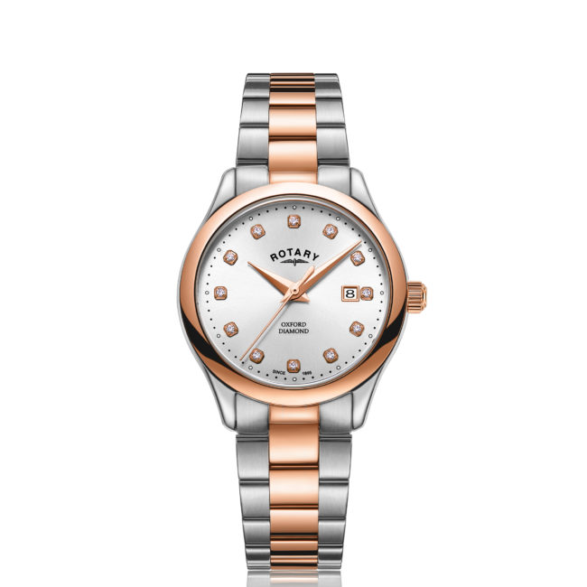 Rotary Two Tone Rose Gold PVD Oxford Diamonds