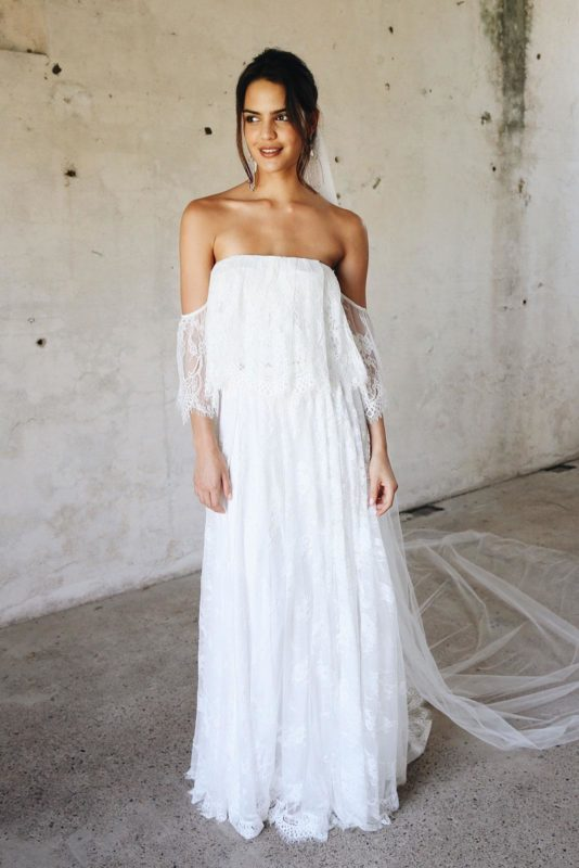 two-piece wedding dress grace loves lace Florence