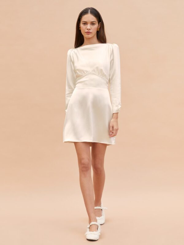 reformation-mini-dress-relaxed-wedding-dres-laid-back-bride