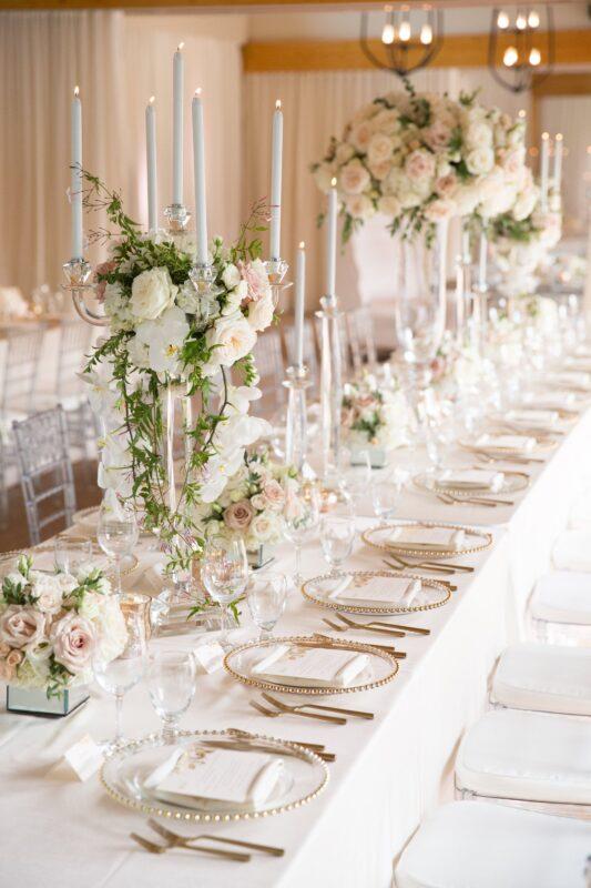 Classic blush and ivory wedding at Azuridge Hotel in Alberta