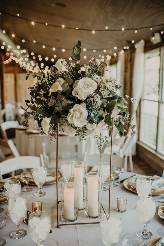 round wedding table styling and centre piece ideas