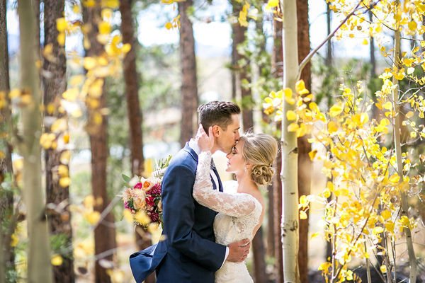 Share A Kiss At The Mountain Ceremony After Reading Vows From Love Poems For Weddings